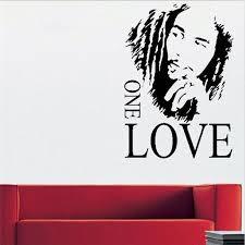 1pcs 43x61cm Bob Marley One Love Vinyl Wall Decal Sticker Dorm Room Music Fan English Proverbs Sticker Wall Decals Stickers Decal Stickervinyl Wall Aliexpress