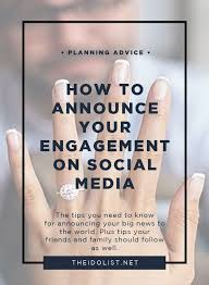 how to announce your engagement on social media engagement