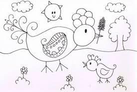 Kleurplaat Vogel In De Tuin Kleurplaten Vogels Tekenen En Vogels