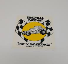 Vintage Knoxville Window Decal 4 X 4 Raceway Hats