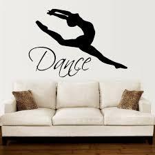 Wall Decals Quotes Dance Quote Dancer Silhouette Gymnastics Girls Kids Children Gift Nursery Dance Studio Ballerina Ballet Wall Vinyl Decal Stickers Bedroom Mural Amazon Com
