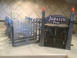 Jurassic Park Entrance Gate And Electric Fence Compound Sections 1880785025