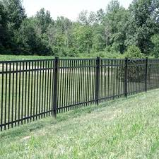 Freedom Heavy Duty New Haven 5 Ft H X 8 Ft W Black Aluminum Flat Top Decorative Metal Fence Panel Lowes Com In 2020 Metal Fence Panels Metal Fence Fence Panels