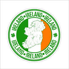 2pcs Ireland Badge Waterproof Vinyl Car Bumper Sticker Wall Window Truck Windshield Decal Wish