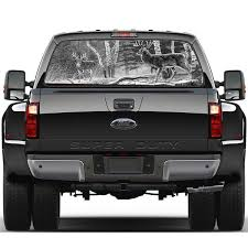 Forest Hunting Deer Pickup Truck Rear Window Decal Suv Car Sticker Wish