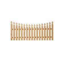 Spaced French Gothic Concave Wood Fence Panels Cedar Hoover Fence Co