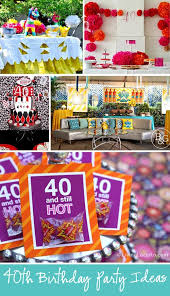 40th birthday party ideas for men and women
