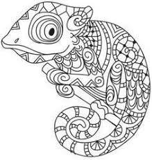Chameleon Coloring Page Google Search Mandala Kleurplaten