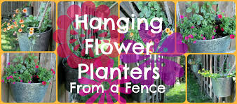 Diy Hanging Flower Planters From A Fence Lily Frog