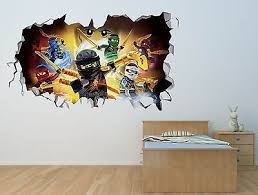 Lego Ninjago Smashed Wall Sticker Decal Home Decor Art Mural Kids J287 Home Garden Children S Bedroom Boy Decor Decals Stickers Vinyl Art Ayianapatriathlon Com