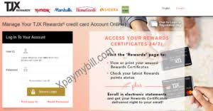 tjx rewards credit card pay bill