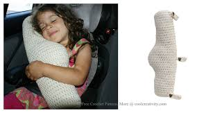 seat belt travel pillow crochet pattern