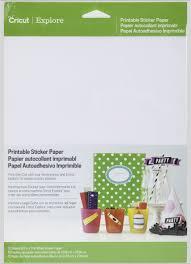 Amazon Com Cricut Printable Sticker Paper For Scrapbooking