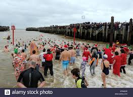 Boxing Day Swim, put on by Bridport Round Table to raise money for Stock  Photo - Alamy