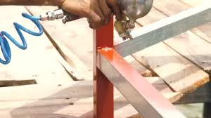 Craftsman Using Spray Gun For Applying Brown Paint On Metal Parts Worker Painting Metal Fence With Paint Sprayer And Compressor Painting Equipment Repair And Restoration Work Stock Video C Cobectbhax Gmail Com 240104444