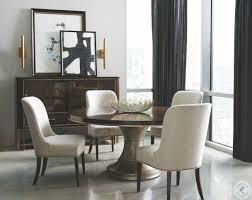 bronze round pedestal dining room