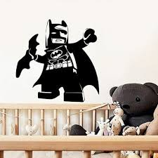 Lego Batman Movie Personalized Name Decal Wall Sticker Home Decor Art Mural Wp03