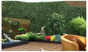 Buy 10x Artificial Boxwood Hedge Fake Vertical Garden Wall Mat Fence 60x40x5cm Graysonline Australia
