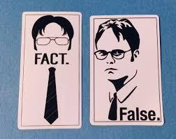 The Office Dwight Schrute Fact False Skateboard Laptop Car Bumper Decal Set Car Bumper Decals The Office Dwight The Office Dwight Schrute