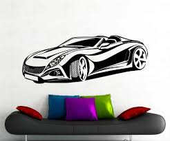 Sport Racing Car Wall Sticker Vinyl Decal Home Bedroom Living Room Interior Decoration Wallpaper Removable Mural Kids Diy Ww 173 Vinyl Decal Kids Diycars Wall Stickers Aliexpress