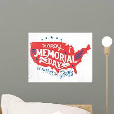 Happy Memorial Day Memory Wall Decal Wallmonkeys Com