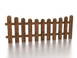 Garden Wood Fence Free 3d Model Max Vray Open3dmodel 199073