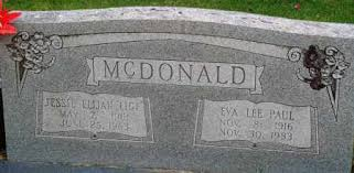 MCDONALD, EVA LEE - Perry County, Arkansas | EVA LEE MCDONALD - Arkansas  Gravestone Photos