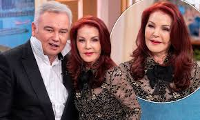 Priscilla Presley, 74, is left cringing as Eamonn Holmes, 59, shows off his  Elvis impression | Daily Mail Online