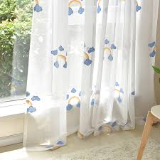 Ivory Rainbow Elegant Dreamy Breathable Cute Kids Curtains