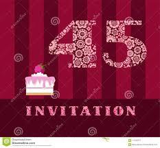 Invitacion 45 Anos Empanada De La Frambuesa Vector Ingles