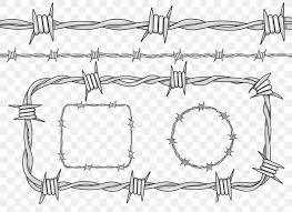 Barbed Wire Fence Drawing Png 1000x729px Barbed Wire Art Auto Part Black And White Drawing Download