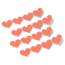 Coral Hearts Vinyl Wall Decals Choose Any Size