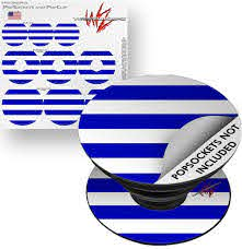 Decal Style Vinyl Skin Wrap 3 Pack For Popsockets Psycho Stripes Blue And White Popsocket Not Included By Wraptorskinz Walmart Com Walmart Com
