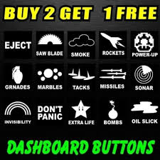 Dashboard Blank Buttons Replacement Funny Car Window Stickers Bumber Jdm Novelty Window Stickers Car Window Stickers Car Humor