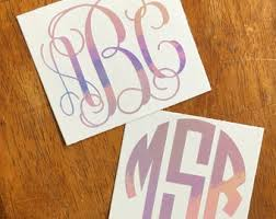 Monogram Sticker Etsy
