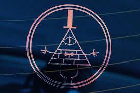 Holographic Gravity Falls Bill Cipher Magic Circle Vinyl Decal Etsy