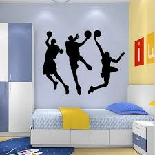 Sports Wall Sticker Basketball Player Sticker Wallpaper Home Decor Basketball Wall Decals For Kids Rooms Children Bedroom Basketball Wall Decal Wall Decalssticker Wallpaper Aliexpress