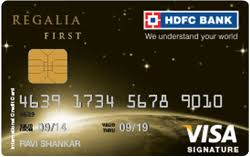 hdfc regalia first credit card check