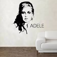 Adele Design Wall Decal Vinyl Wall Sticker Art Celebrity Famous Free Shipping Vinyl Wall Stickers Designer Wall Stickerswall Sticker Aliexpress