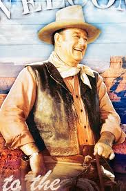 John Wayne Life Size Wall Sticker Clock Welcome Sign Talk Low Talk Slow Sign 1844032638