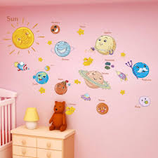 Solar System Wall Stickers For Kids Rooms Stars Outer Space Sky Wall D Space Toy Store