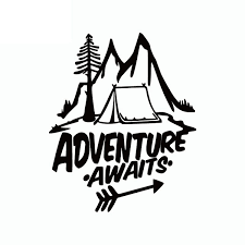 15cm 13cm Adventure Awaits Vinyl Car Sticker Pine Tree Travel Mountains Car Decal 6 Colors Wish