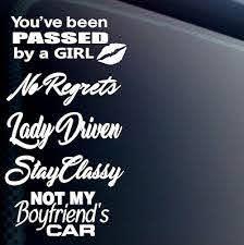 Jdm Girl Car Sticker Decal Vinyl 5 Pack Lot Lady Driven Euro Women Tuner Boost Ebay
