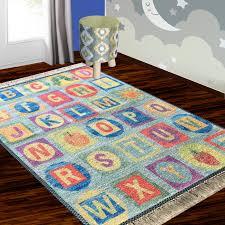 Silk Carpet Kids Collection Abcd Kids Room Rug 3x5 Feet 90 X 150 Cms Avioni