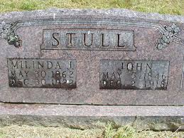 Headstone: John Stull and Melinda Gray