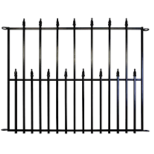 Shop No Dig Empire 29 In X 38 In Black Powder Coated Steel Fence Panel At Lowe 39 S Canada Find Our Select Metal Fence Panels Steel Fence Steel Fence Panels