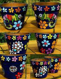 mosaic flower pots flower pot crafts
