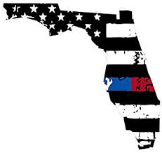 Amazon Com Florida Tattered Thin Blue Red Line Us Flag Honoring Our Men Women Of Law Enforcement Usa America Car Symbol Sticker Decal Die Cut Vinyl Window Computer Made And Shipped In