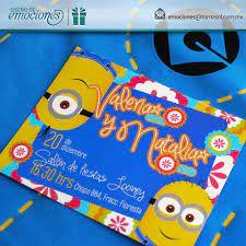 Invitacion Infantil Con Tema De Los Minions Disenos De Unas