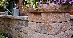 solid concrete block estate wall